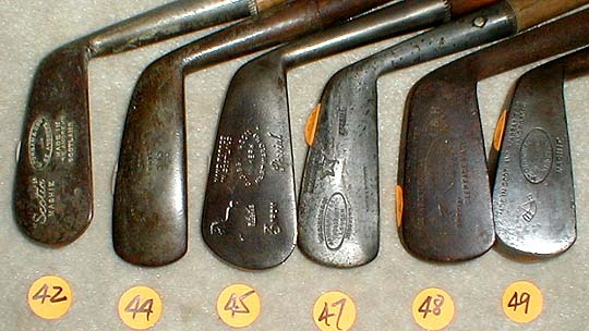 golf gifts - catalogue #137! antique wooden shaft hickory golf