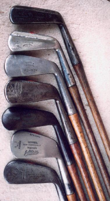 irons made in america - wooden shaft golf clubs