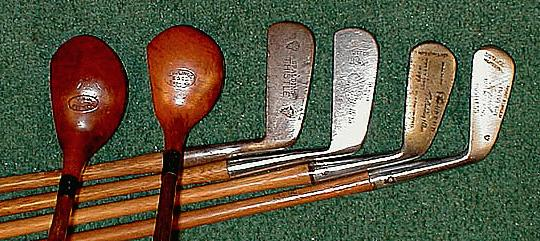 Chuck Furjanic S Antique Golf Collectibles Wooden Shaft