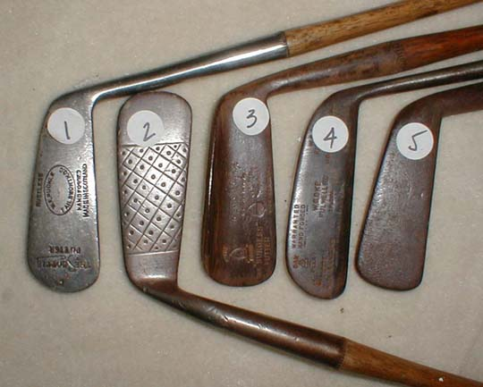 Catalogue 151 Antique Wooden Shaft Hickory Golf Clubs